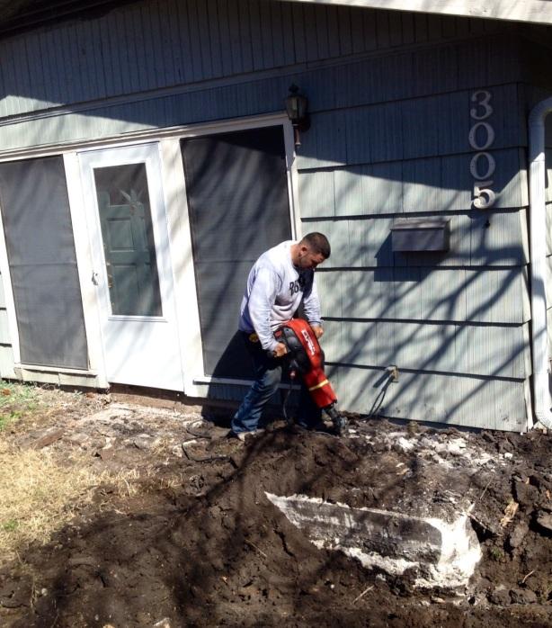 Austin Sidewalk Demolition Photo #1