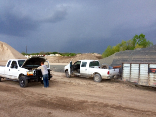 Changing a Tire Before The Storm Hits!